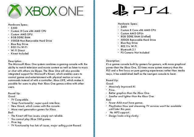 Xbox vs ps4 pdf