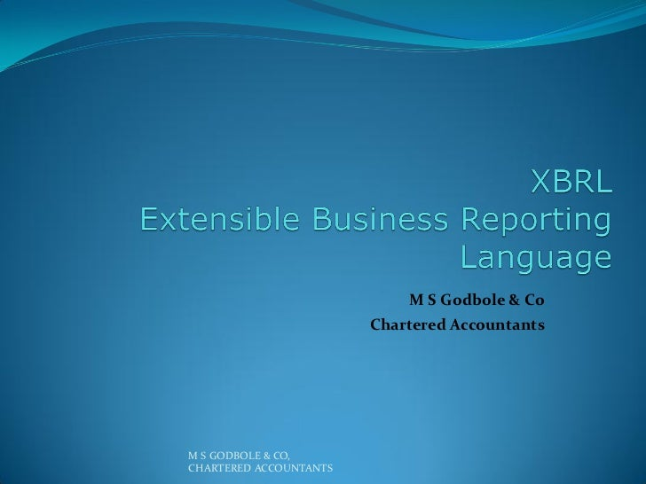 M S Godbole & Co                        Chartered AccountantsM S GODBOLE & CO,CHARTERED ACCOUNTANTS