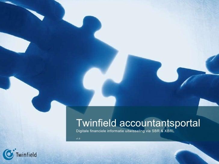 Twinfield accountantsportal Digitale financiele informatie uitwisseling via SBR & XBRL v1.0