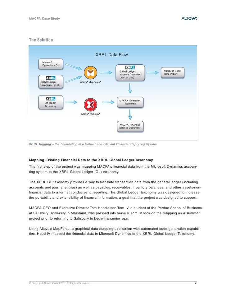 MACPA XBRL Case Study - Altova