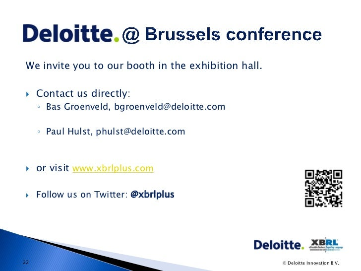 Invitation To Exhibition Booth : Xbrl conference brussels bas groenveld and paul hulst