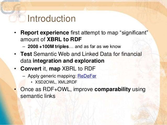 Integration and Exploration of Financial Data using Semantics and Ontologies Slide 2