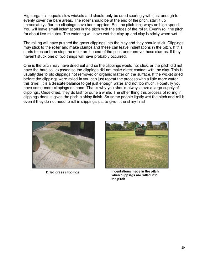 Basic guide to turf cricket pitch preparation