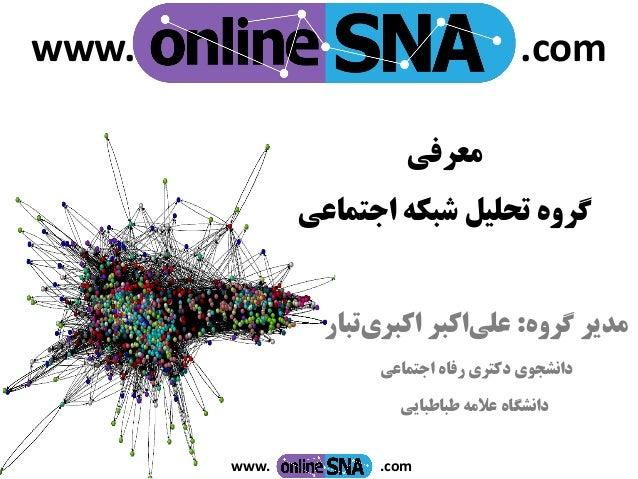 www. .com معرفی اجتماعی شبکه تحلیل گروه گروه مدیر:اکبرعلیاکبریتبار اجتماعی رفاه دکتری دانشجوی...