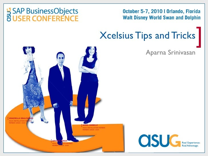 Xcelsius Tips and Tricks Aparna Srinivasan