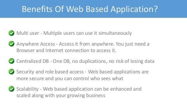 Advantages and disadvantages of web app development
