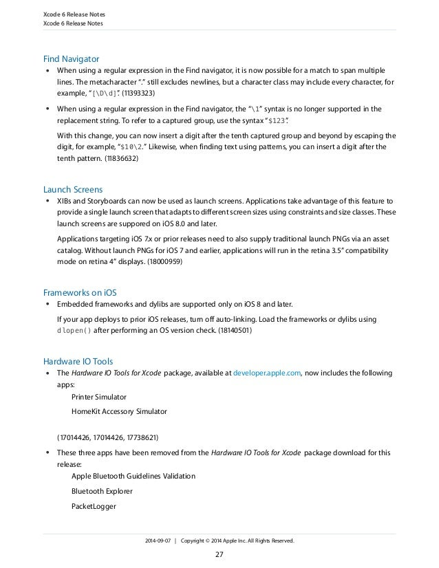 Xcode 6 release_notes