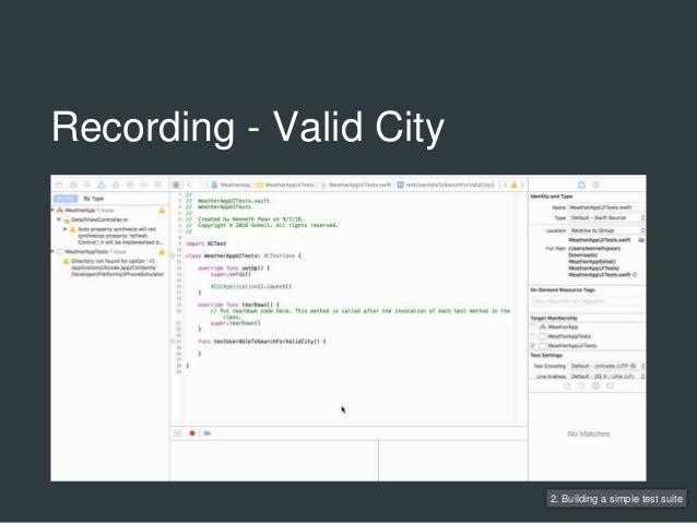 Recording - Valid City 2. Building a simple test suite
