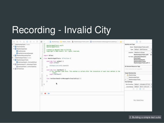 Recording - Invalid City 2. Building a simple test suite