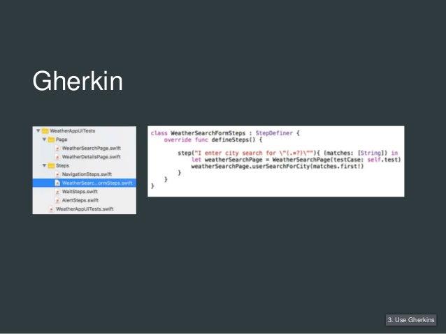 3. Use Gherkins Gherkin