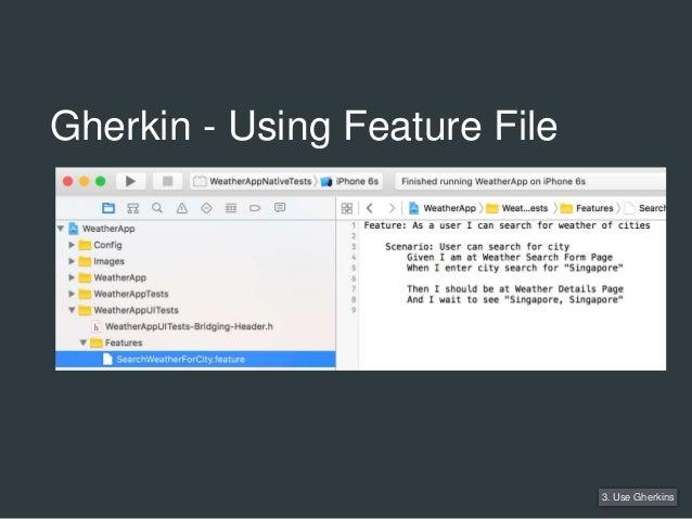 Gherkin - Using Feature File 3. Use Gherkins