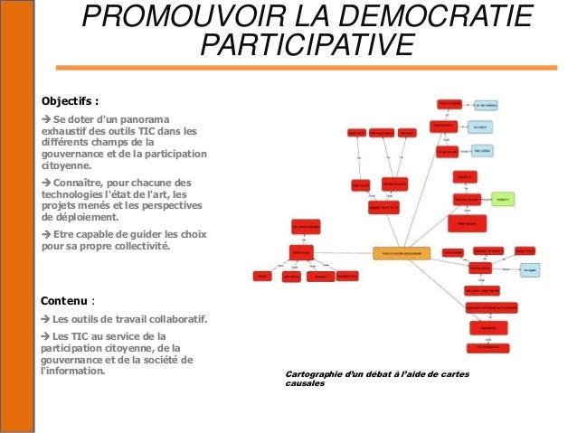 PROMOUVOIR LA DEMOCRATIE             PARTICIPATIVEObjectifs : Se doter dun panoramaexhaustif des outils TIC dans lesdiffé...