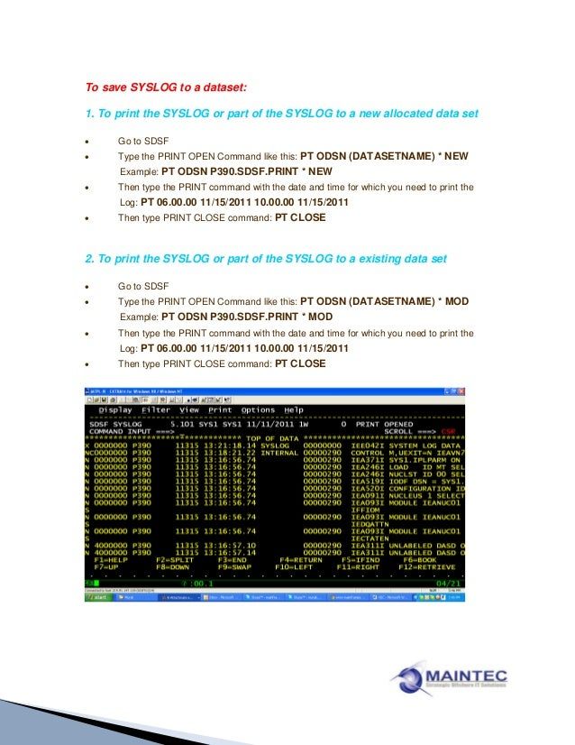 Xdc command-to-print-job-output-and-syslog-from-sdsf