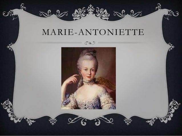 MARIE-ANTONIETTE