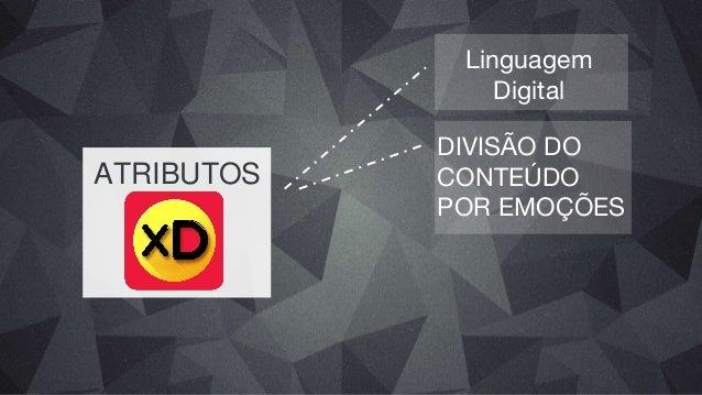 ATRIBUTOS Linguagem Digital Divisão do Conteúdo por Emoções PUBLICIDADE NATIVA
