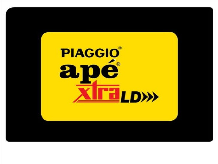 xebec communications - piaggio ape xtra ld creative presentation