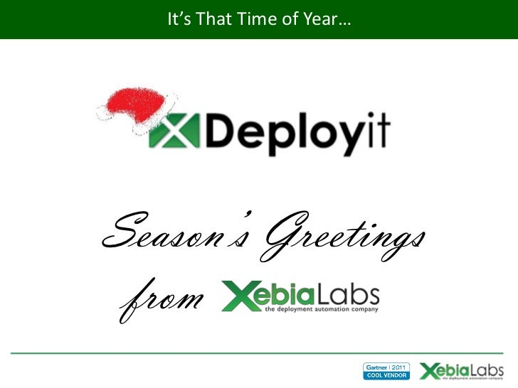 It's That Time of Year…Season's Greetings from XebiaLabs