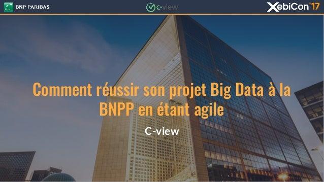Comment réussir son projet Big Data à la BNPP en étant agile C-view