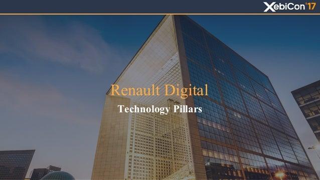 Renault Digital Technology Pillars