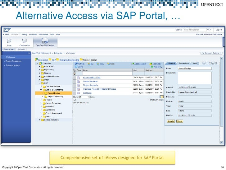 Sap Extended Ecm By Opentext 10 0 What S New