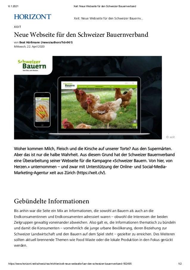 6.1.2021 Xeit: Neue Webseite für den Schweizer Bauernverband https://www.horizont.net/schweiz/nachrichten/xeit-neue-websei...