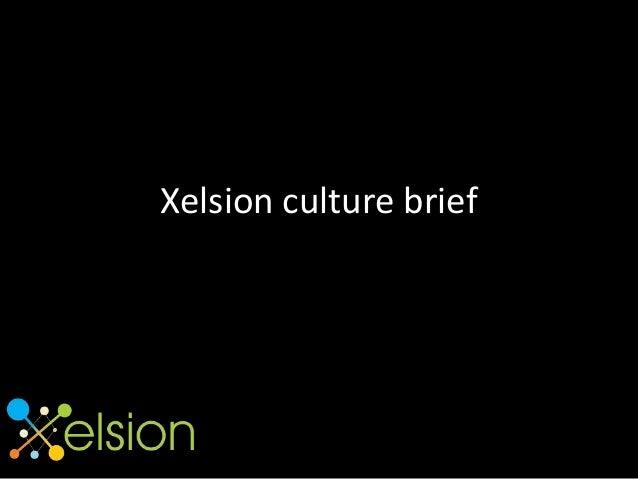 Xelsion culture brief