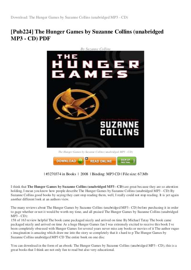 Part games the 1 pdf hunger