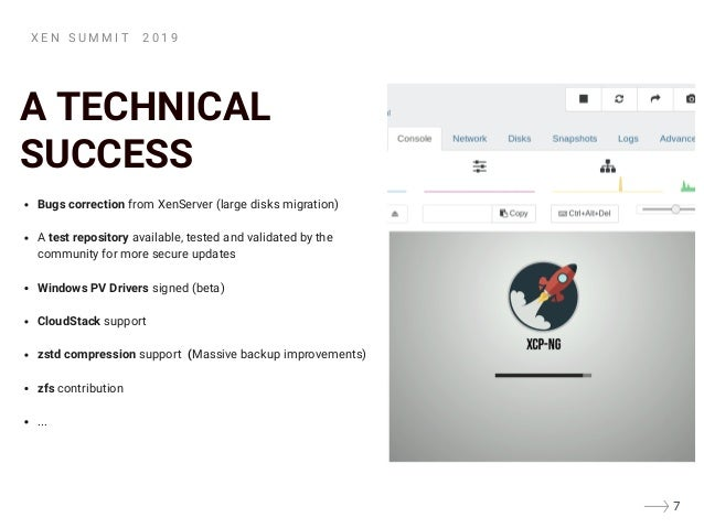 A TECHNICAL SUCCESS Bugs correction from XenServer (large disks migration) A�test repository available, tested and validat...