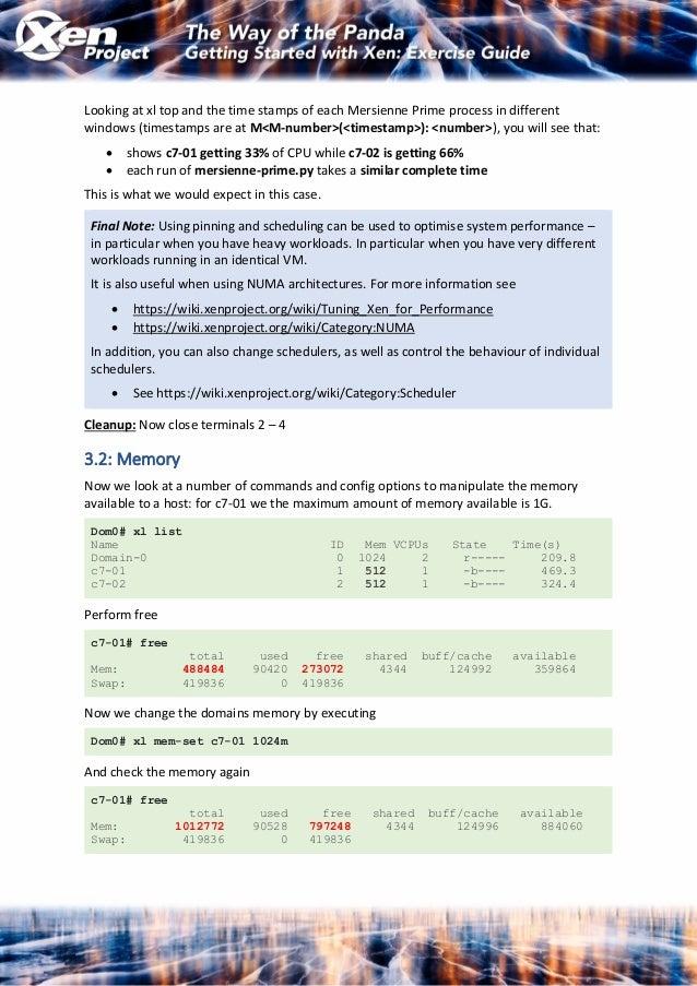OSSNA18: Xen Beginners Training (exercise script)