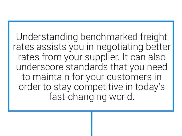 The Process Of Benchmarking Supply Chain & Ocean Freight Rates