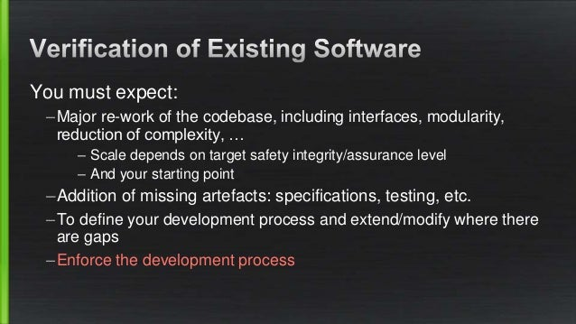 Established developers don't have a safety background Could be fixed by training: neither desirable, scalable or indeed ne...