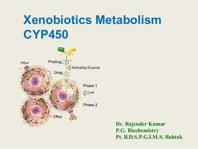 Xenobiotics Metabolism CYP450 Dr. Rajender Kumar P.G. Biochemistry Pt. B.D.S.P.G.I.M.S. Rohtak