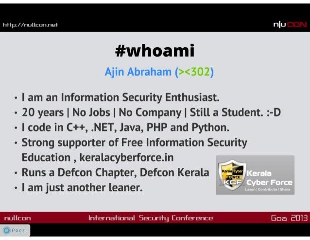 OWASP Xenotix XSS Exploit Framework v3 : Nullcon Goa 2013 Slide 3