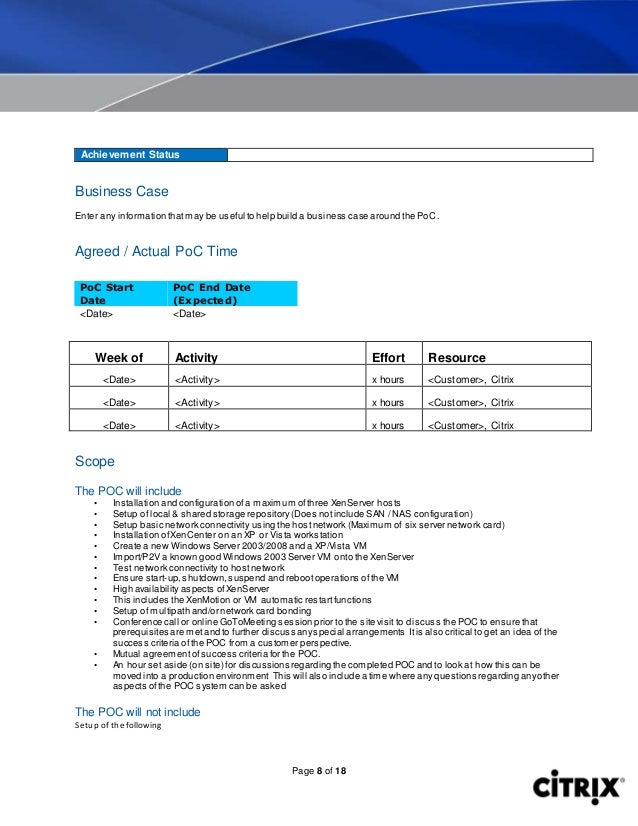 xen server poc template, Presentation templates