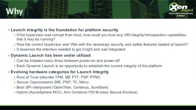 XPDDS19: How TrenchBoot is Enabling Measured Launch for Open-Source Platform Security - Daniel Smith, Apertus Solutions Slide 3