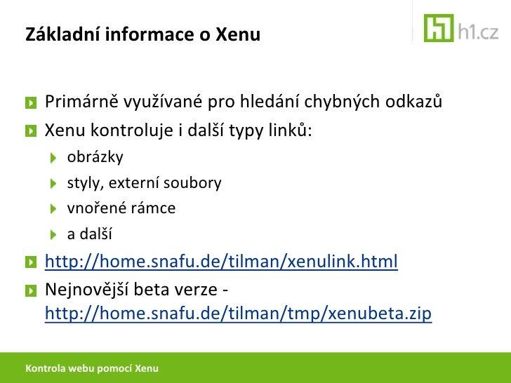 Analýza webu pomocí Xenu Slide 2