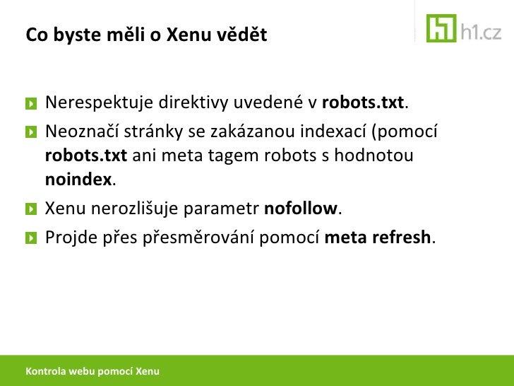 Analýza webu pomocí Xenu Slide 3