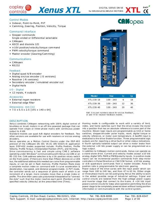 Приводы Xenus 120-240 Copley Controls