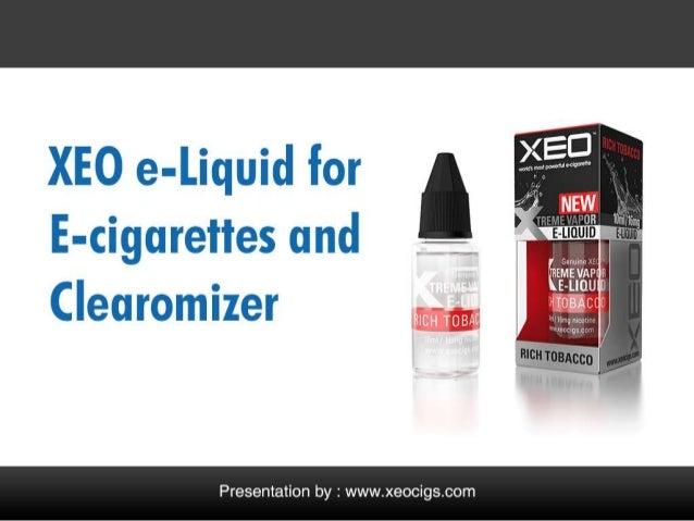 XEO e-Liquid for Refillable E-cigarettes Cartridges