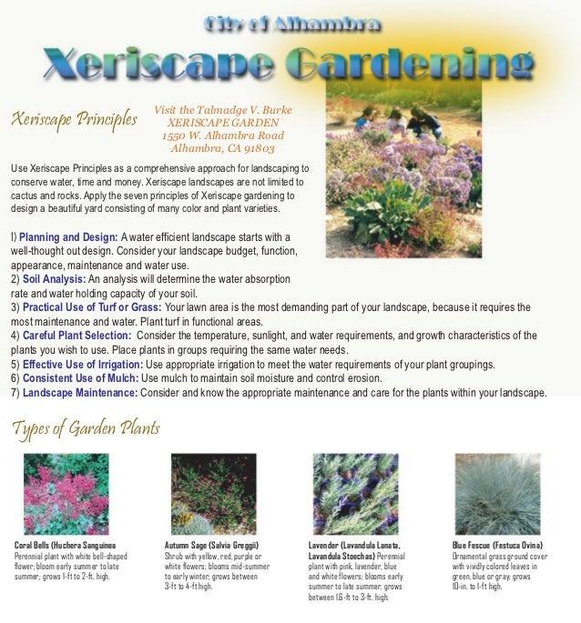 Visit the Talmadge V. BurkeXeriscape Principles                        XERISCAPE GARDEN                                   ...