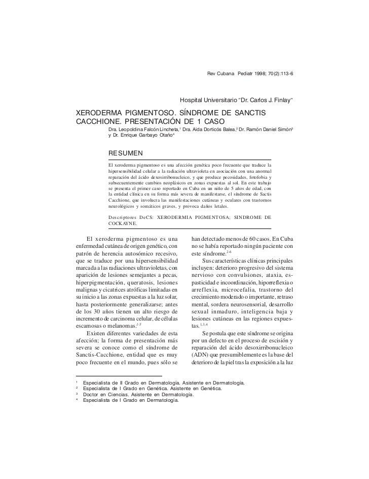 "Rev Cubana Pediatr 1998; 70(2):113-6                                                   Hospital Universitario ""Dr. Carlos ..."