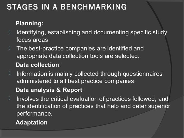 Xerox case study on benchmarking