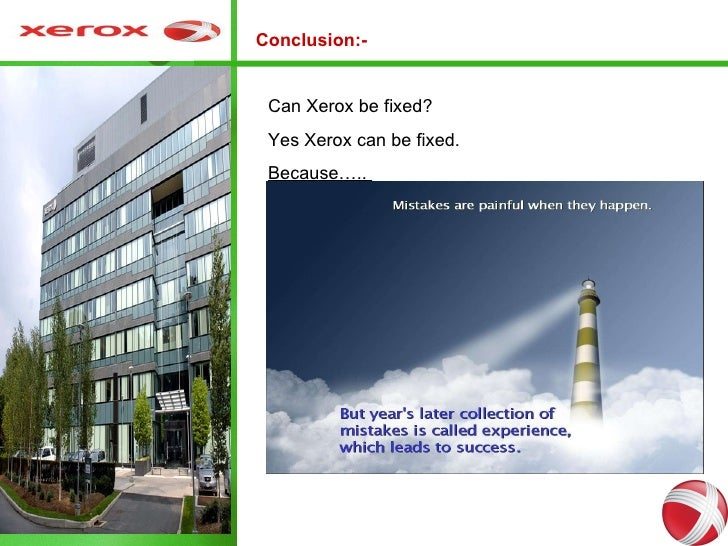 Xerox case ppt 12 conclusion can xerox toneelgroepblik Gallery