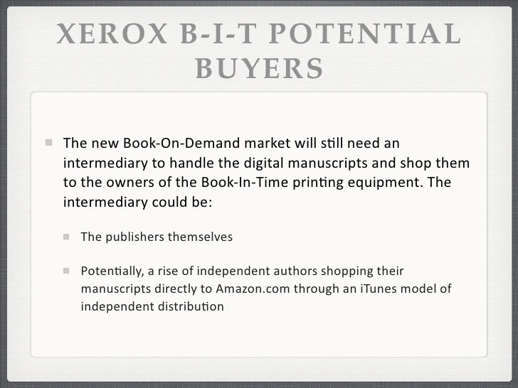 Xerox Case   Xerox Book in Time Case   An independent center     Scribd
