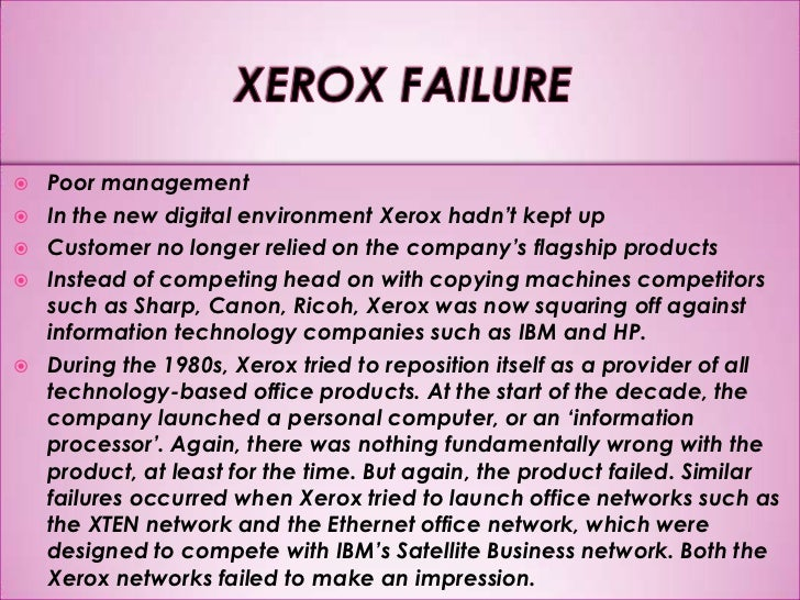 xerox the benchmarking story case study Xerox-the benchmarking story - download as powerpoint presentation benchmarking xerox case study xerox's benchmarking model evolution of quality in xerox.