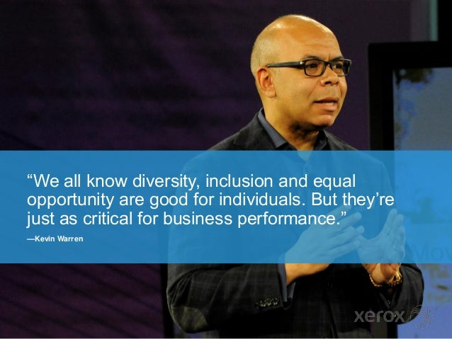 Diversity: Good for people. Great for business.