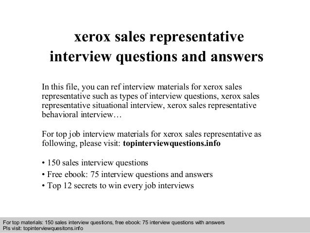 Xerox sales representative interview questions and answers 1 638gcb1408337938 interview questions and answers free download pdf and ppt file xerox sales representative interview toneelgroepblik Images