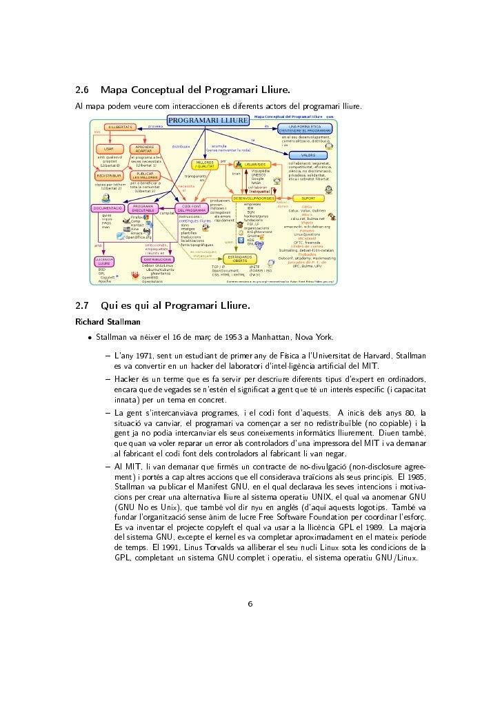 2.6    Mapa Conceptual del Programari Lliure.Al mapa podem veure com interaccionen els diferents actors del programari lli...