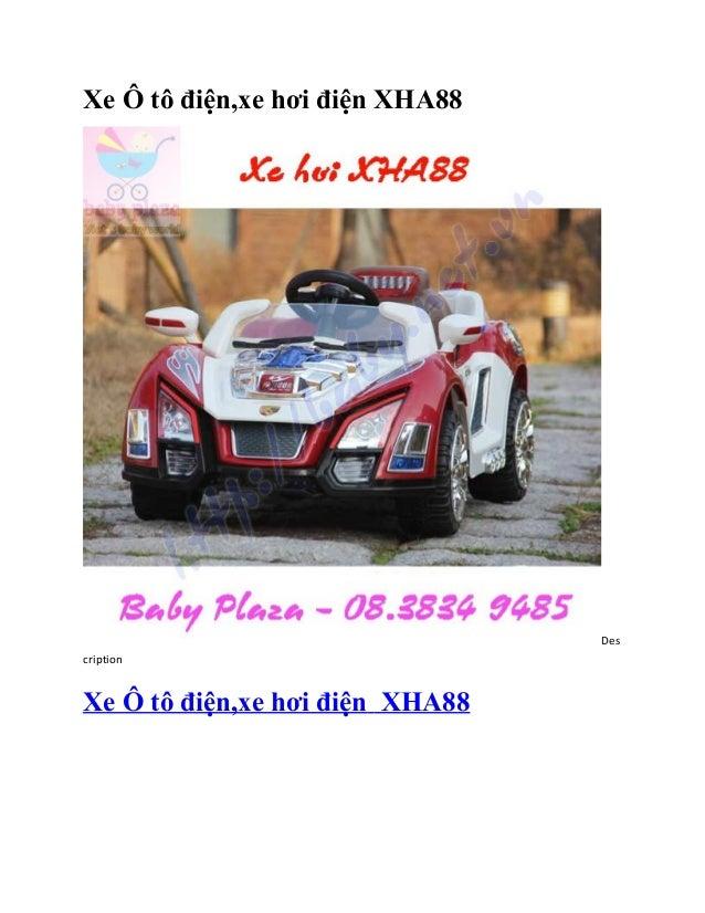 Xe Ô tô điện,xe hơi điện XHA88                                 DescriptionXe Ô tô điện,xe hơi điện XHA88