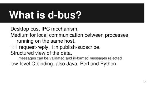 D-bus basics